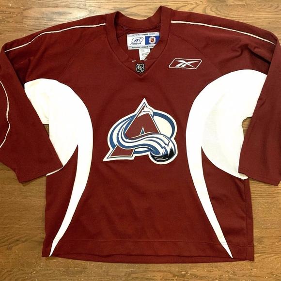 quality design a39ae 6d32b CCM NHL Reebok Colorado Avalanche Jersey Sewn Logo